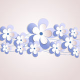 Vector background with flower Stock Photos