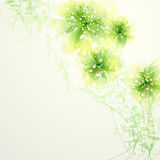 Vector background with pastel flowers Stock Image