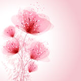 Vector background with pastel flowers Stock Images