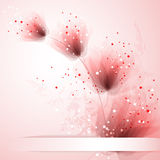 Vector background with pastel flowers Royalty Free Stock Photos