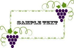 Vector background pattern. With grapes Royalty Free Stock Photos