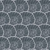 Vector background pattern of snail Stock Photography