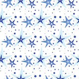 Vector background pattern with starfish Stock Images