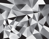 Vector background pattern, white black triangle Royalty Free Stock Photography