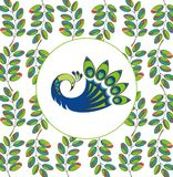 Vector background. Peacock Stock Photography