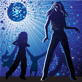 Vector background with people dancing vector illustration
