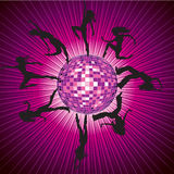 Vector background with people dancing Royalty Free Stock Image