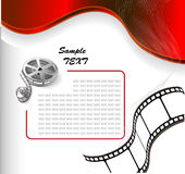 Vector background with photographic film. Vector background with curved photographic film Stock Image