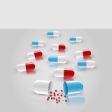 Vector background with pills Stock Images