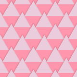 Vector background pink diamonds for Valentines Day stock photography