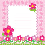 Vector background with pink flowers Royalty Free Stock Photography