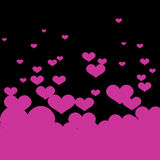 Vector background with pink hearts. Stock Image