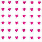 Vector background with pink hearts Royalty Free Stock Photo