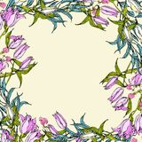 Vector background with pink and white lily flowers Stock Photography