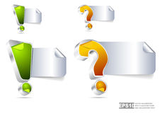 Vector background with question mark and exclamation point Royalty Free Stock Photos