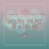 Vector background with quote Royalty Free Stock Image