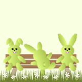 Vector background with rabbits Stock Images
