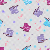 Vector background with rain boots Royalty Free Stock Photography