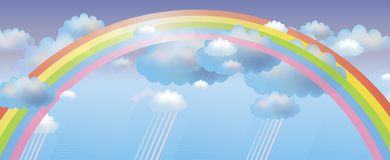 Vector background with rainbow Royalty Free Stock Image