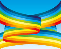 Vector background. Rainbow. Royalty Free Stock Image