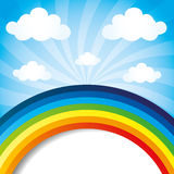 Vector background. Rainbow. Royalty Free Stock Photo