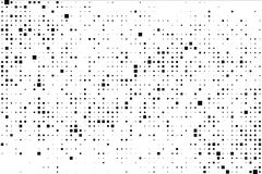 Vector background with random black squares. Abstract ornament. Modern abstract pattern royalty free illustration