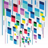 Vector background rectangles. Abstract lines. Vector background rectangles. Flying rectangles Royalty Free Stock Photo
