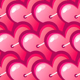 Vector background red heart. Vector background made of red heart stickers Royalty Free Stock Photo