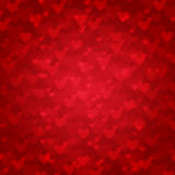 Vector background from red hearts Royalty Free Stock Photo