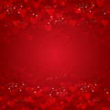 Vector background from red hearts Royalty Free Stock Image