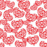 Vector background. Red hearts. Royalty Free Stock Photo