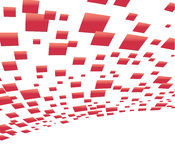 Vector background with red squares Royalty Free Stock Photo