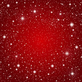 Vector background. Red starry sky. Eps 10. Vector background in the form of a starry sky on a red background Stock Images