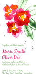 Vector background with red watercolor camellias Royalty Free Stock Photo