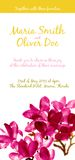 Vector background with red watercolor magnolia Royalty Free Stock Images