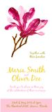 Vector background with red watercolor magnolia Stock Photography