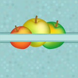 Vector background with red and yellow apples Royalty Free Stock Photography