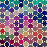 Vector background of repeating geometric stars. Geometric backgr Royalty Free Stock Photo