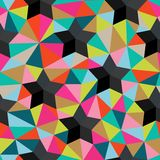Vector background of repeating geometric stars and triangles. St Royalty Free Stock Photo