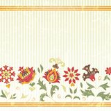 Vector background with retro flowers Stock Photography