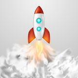 Vector background with retro space rocket ship launch, Template for project start up and development process, creative. Idea etc.. EPS10 illustration vector illustration