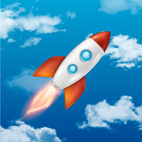 Vector background with retro space rocket ship launch, Template for project start up and development process, creative. Idea etc.. EPS10 illustration royalty free illustration