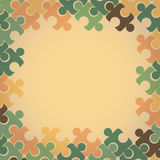 Vector. Background in retro style of colorful puzz Royalty Free Stock Images
