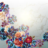 Vector background with rose flowers in vintage style. Grunge vector background with rose flowers in vintage style Royalty Free Stock Image