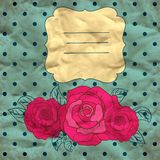 Vector background with roses, eps10 Royalty Free Stock Photos
