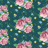 Vector background with roses stock photos