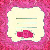 Vector background with roses Royalty Free Stock Image