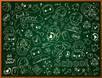 Vector Background With School Blackboard Stock Image