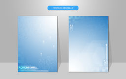Vector background science concept cover design Royalty Free Stock Photo