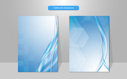 Vector background science concept water wave cover design Royalty Free Stock Photography